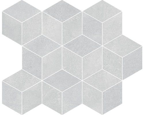 Mozaika Spatula Cubes Gris Soft 26x30 cm