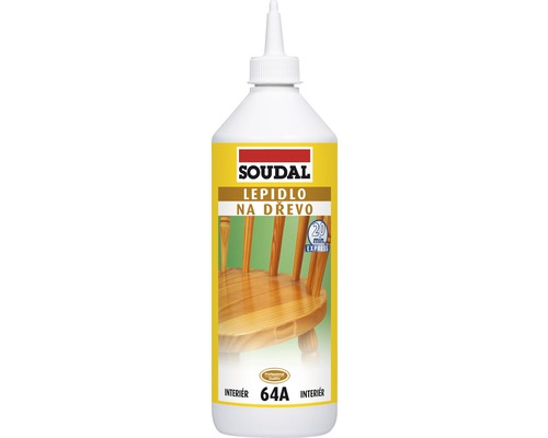 Lepidlo na dřevo SOUDAL 64A rychleschnoucí 750 g