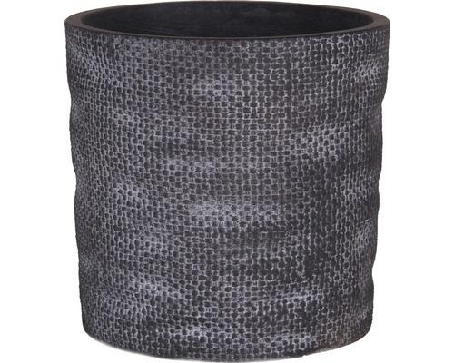 Květináč Lafiora Woven Bag umělý kámen Ø 30 cm x 29 cm šedý