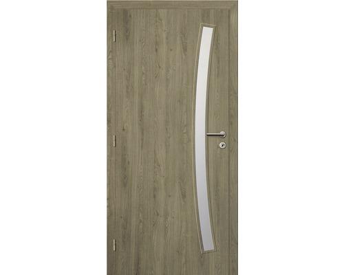 Interiérové dveře Solodoor Zenit 21 prosklené 90 L fólie dub portorico