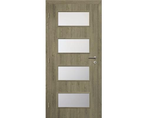 Interiérové dveře Solodoor Zenit 28 prosklené 90 L fólie dub portorico