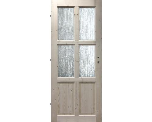 Interiérové dveře masivní 4S2K prosklené, 80 L, smrk