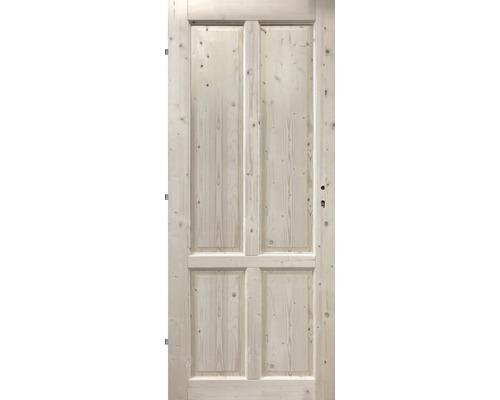Interiérové dveře masivní 4K plné, 80 L, smrk