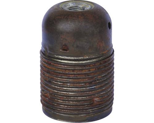 Objímka kovová, dlouhý závit E27