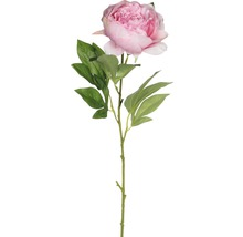 Umělá květina pivoňka růžová 76 cm