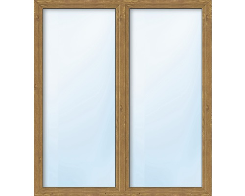 Balkónové dveře plastové dvoukřídlé se štulpem ARON Basic bílé/golden oak 1400 x 2000 mm