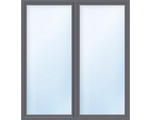 Balkónové dveře plastové dvoukřídlé se štulpem ESG ARON Basic bílé/antracit 1400 x 2050 mm
