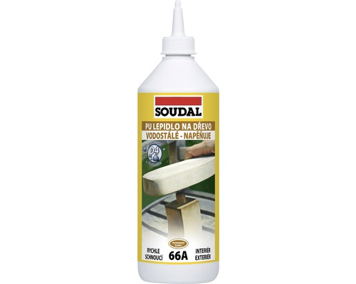 Lepidlo na dřevo, polyuretanové SOUDAL 66A 750 g