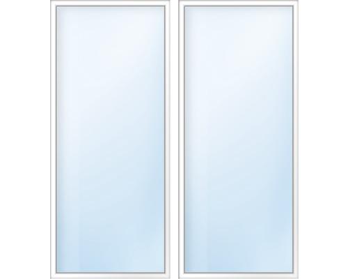 Balkónové dveře plastové dvoukřídlé se štulpem ESG ARON Basic bílé/antracit 1600 x 1900 mm