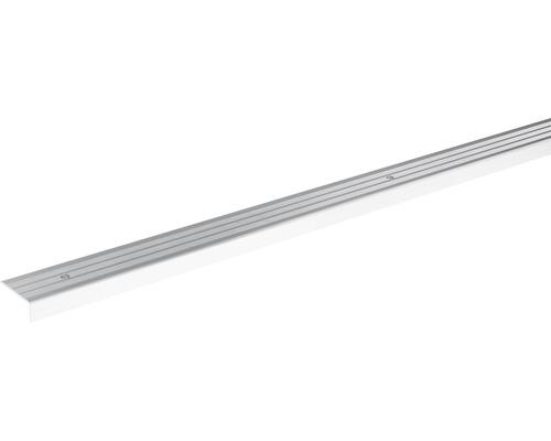 Ukončovací lišta schodová Skandor šroubovací 900 x 24,5 x 9,5 mm stříbrná