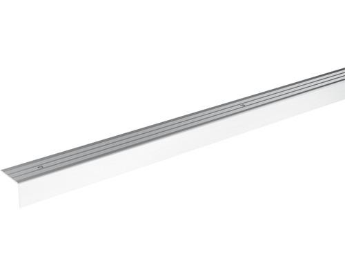 Ukončovací lišta schodová Skandor šroubovací 900 x 24,5 x 20 mm stříbrná