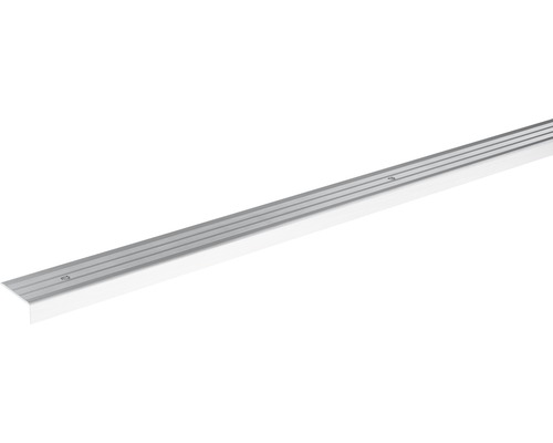 Ukončovací lišta schodová Skandor šroubovací 2700 x 24,5 x 9,5 mm stříbrná