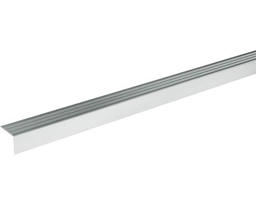 Ukončovací lišta schodová Skandor samolepicí 2700 x 24,5 x 20 mm stříbrná