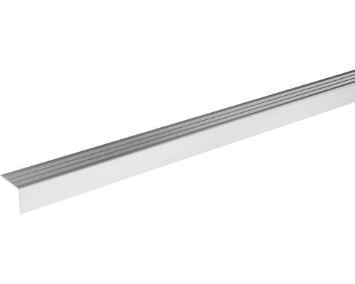 Ukončovací lišta schodová Skandor samolepicí 900 x 24,5 x 20 mm stříbrná
