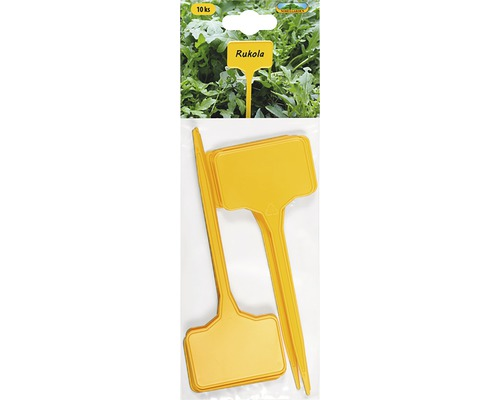 Jmenovky na rostliny zapichovací rovné 5,5x3,5 cm, výška 15 cm 10 ks žluté