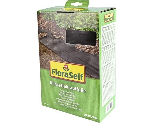 Ochranná mulčovací fólie proti plevelu klima FloraSelf 10 x 0,9 m 33g/m² černá