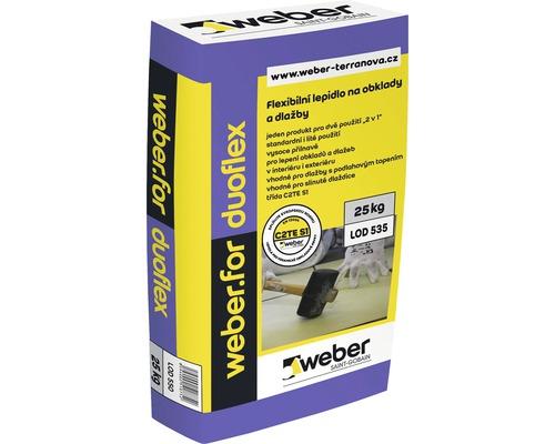 Flexibilní lepidlo na obklady a dlažbu WEBER.FOR Duoflex C2TE S1 mrazuvzdorné 25 kg
