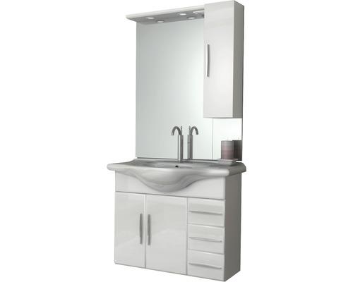 Koupelnová sestava Aida 85 cm s umyvadlem a zrcadlem s LED osvětlením