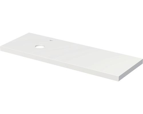 Deska pod umyvadlo Intedoor Landau bílá 140 cm s otvorem vlevo pro umyvadlo Jungborn Veronia