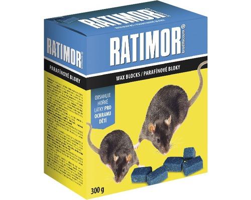 RATIMOR parafínové bloky k hubení myší, potkanů a krys 300 g