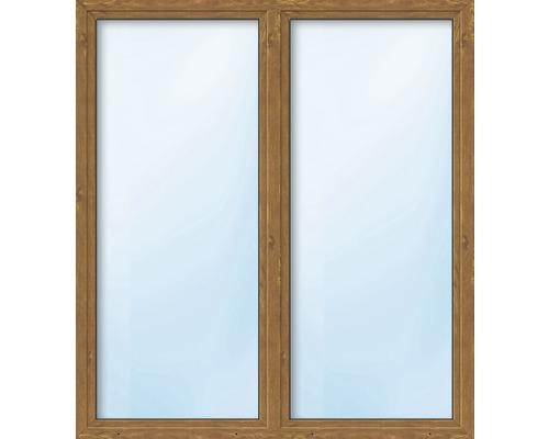 Balkónové dveře plastové dvoukřídlé se štulpem ESG ARON Basic bílé/golden oak 1350 x 1950 mm