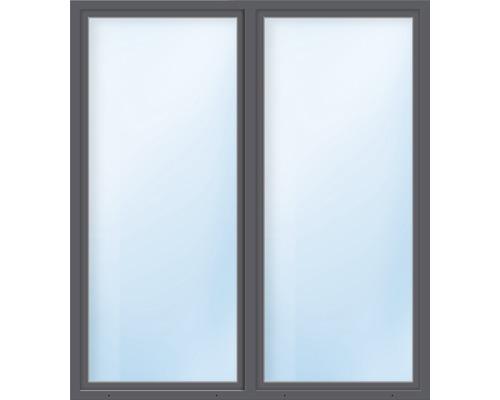 Balkónové dveře plastové dvoukřídlé se štulpem ESG ARON Basic bílé/antracit 1550 x 1950 mm