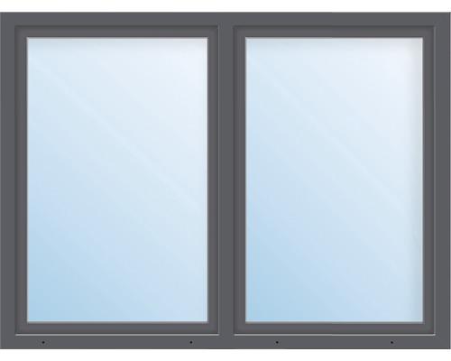 Balkónové dveře plastové dvoukřídlé ARON Basic bílé/antracit 1550 x 2100 mm