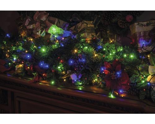 LED světelný řetěz venkovní Lafiora 40 barevných LED