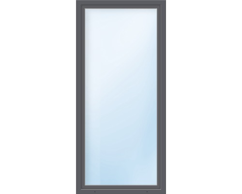 Balkónové dveře plastové jednokřídlé ESG ARON Basic bílé/antracit 1100 x 2000 mm DIN pravé