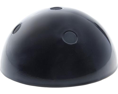 Baldachýn kovový 100 mm, 5 otvorů, černý