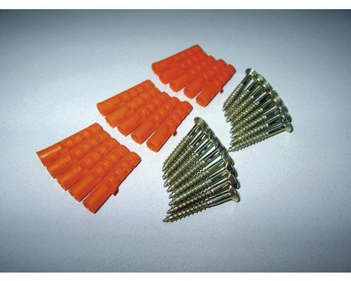 Šrouby + hmoždinky stříbrné 3,0x25mm vs. 5,0x25mm