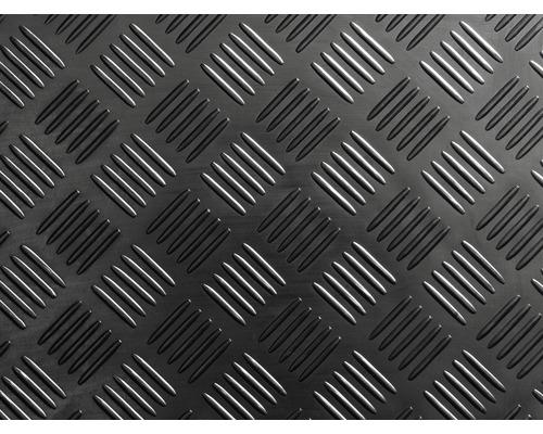 Běhoun kaučukový se vzhledem drážkovaného plechu 100 cm široký
