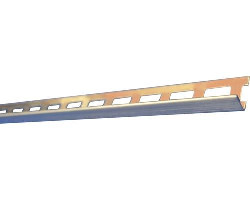 Lišta kartáčovaná nerez E091 2500x9 mm