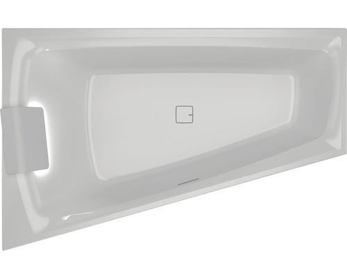 Rohová vana Riho Still Smart 170x110 cm s podhlavníkem pravá BR0300500K00130