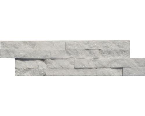 Obkladový kámen QUARZIT bílý 10x40 cm