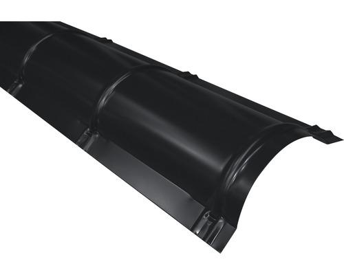 Hřebenáč půlkulatý PRECIT Big Stone 1000 mm 9005 černá