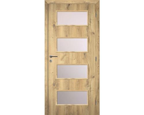 Interiérové dveře Solodoor Zenit 28 prosklené 80 P dub natur