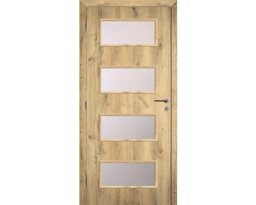 Interiérové dveře Solodoor Zenit 28 prosklené 70 L dub natur
