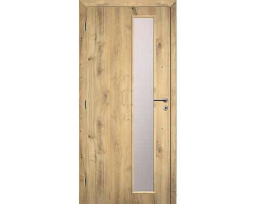 Interiérové dveře Solodoor Zenit 22 prosklené 90 L dub natur