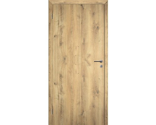 Interiérové dveře bezfalcové Solodoor plné 60 L dub natur