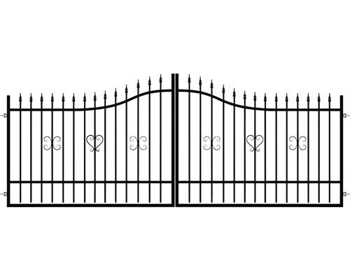 Brána POLBRAM Sophia 400 x 120 cm dvoukřídlá 9005 černá