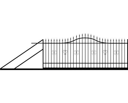 Brána posuvná POLBRAM Sophia 4 x 1,5 m levá Zn + RAL 9005
