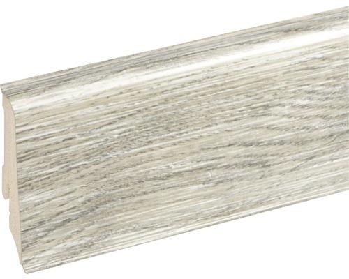 Podlahová lišta Neuhofer K0210L plastová 2400 x 59 x 17 mm EXEI104 dub torgon