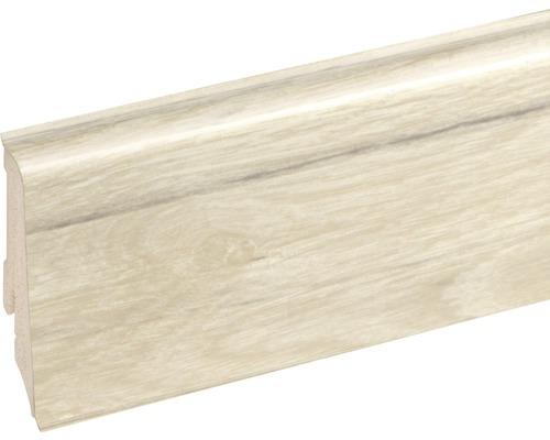 Podlahová lišta Neuhofer K0210L plastová 2400 x 59 x 17 mm EXEI109 golden oak white