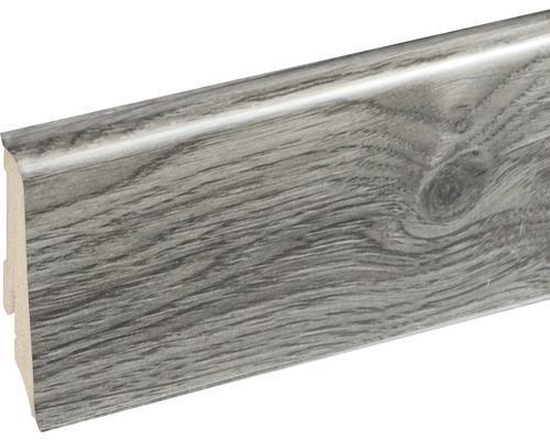 Podlahová lišta Neuhofer K0210L plastová 2400 x 59 x 17 mm EXEI111 smoky oak šedá