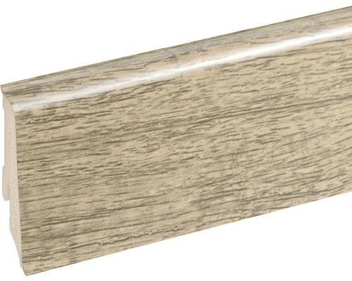 Podlahová lišta Neuhofer K0210L plastová 2400 x 59 x 17 mm EXKA001 kaštan davos
