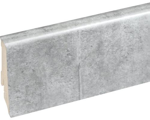 Podlahová lišta Neuhofer K0210L plastová 2400 x 59 x 17 mm EXFA069 beton šedý