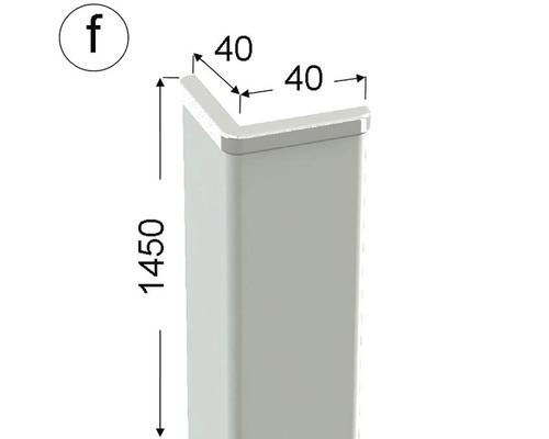 Rohová lišta ochranná 40 x 40 x 1450 mm fólie bílá