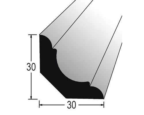 Podlahová lišta nastavovaná 30 x 30 x 2400 mm prohnutá dub