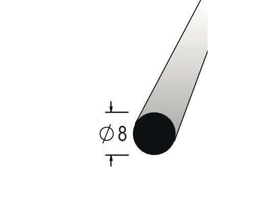 Lišta kruhová masivní 8 x 900 mm dub